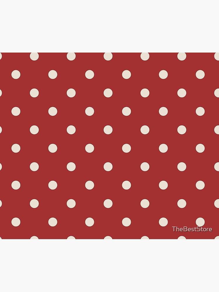 Rote Tupfenmuster von TheBestStore