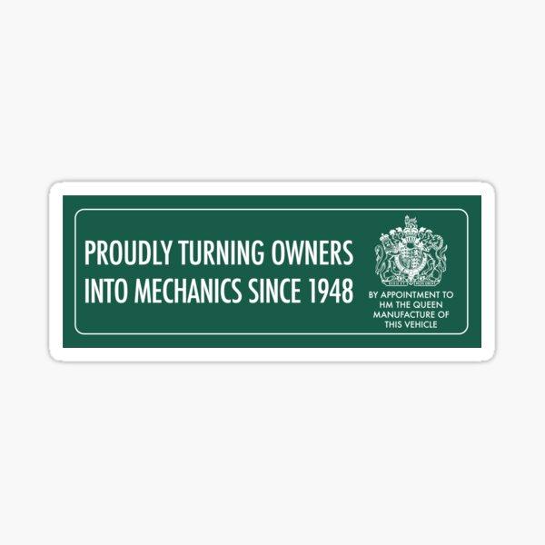 Land Rover owner Sticker