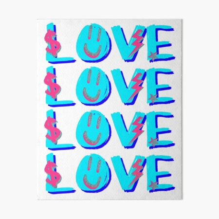 preppy LOVE Art Board Print