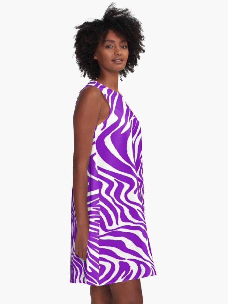 Alternate view of White zebra A-Line Dress