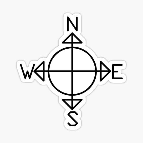 Simple Compass Sticker
