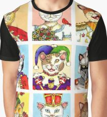 The Royal Court of Cats Graphic T-Shirt