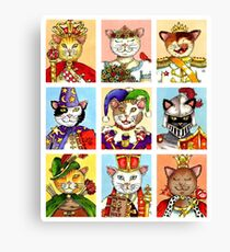 The Royal Court of Cats Canvas Print