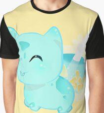Blue Boba(tea)saur Graphic T-Shirt