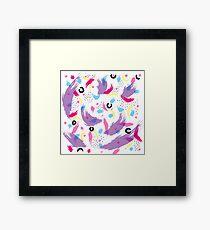 Danse colorée Framed Print