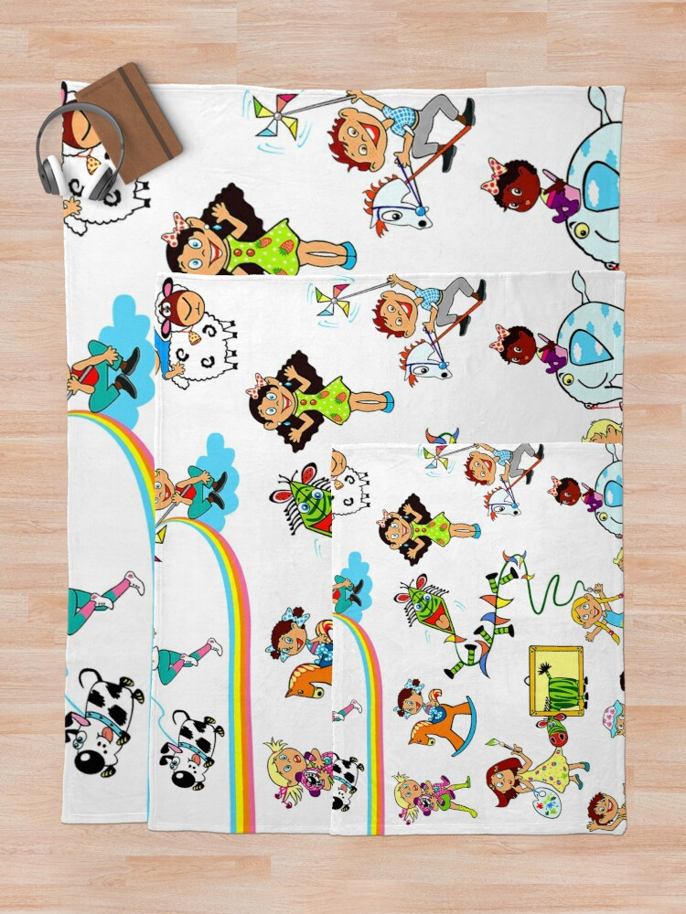 Alternate view of Child Cartoon Throw Blanket