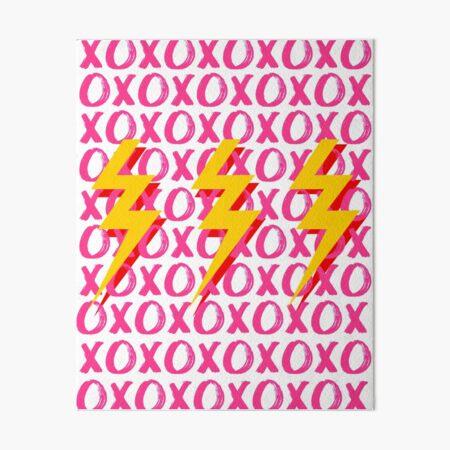 xoxo lightning bolts Art Board Print