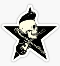 Rock-n-Roll Skull Sticker