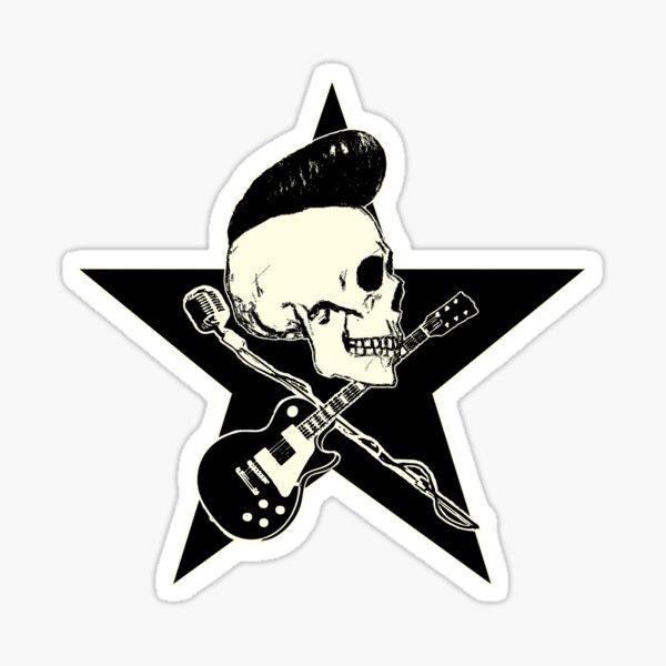 Rock-n-Roll Skull Sticker