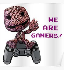 Inspired by Sackboy of Little Big Planet Poster