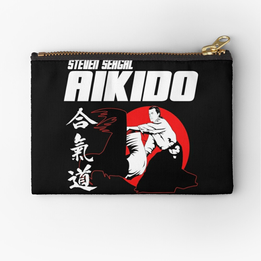 Steven Seagal Aikido Martial Arts Japan Kanji Zipper Pouch By Realmendesign Redbubble