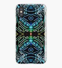 symmetry line pattern blue iPhone Case/Skin