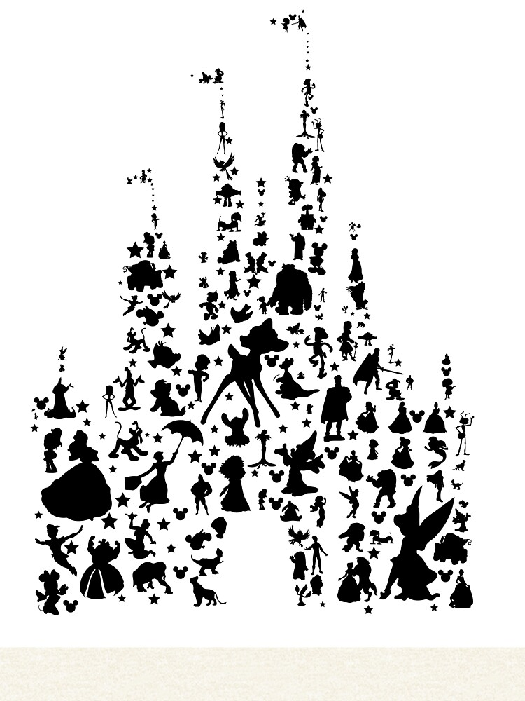 Charakter Schloss Silhouette von smagifts