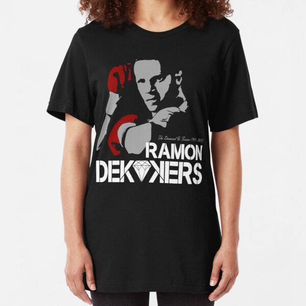 RIP RAMON DIAMOND DEKKERS DUTCH MUAY THAI CHAMPION LEGEND Camiseta ajustada