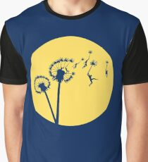 Dandylion Flight - Reversed Circular Graphic T-Shirt