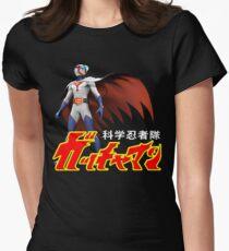 TATSUNOKO JAPAN CLASSIC RETRO CARTOON ANIME SERIES GATCHAMAN G-FORCE BATTLE OF THE PLANETS SCIENCE NINJA TEAM  Womens Fitted T-Shirt
