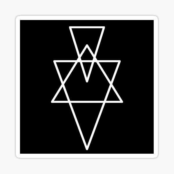 Hexagram Geometry Stickers and Prints Sticker