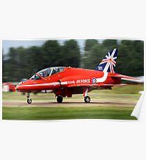 Red Arrows T1 Hawk Poster