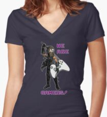 Inspired by Ryu Hayabusa of Ninja Gaiden Women's Fitted V-Neck T-Shirt