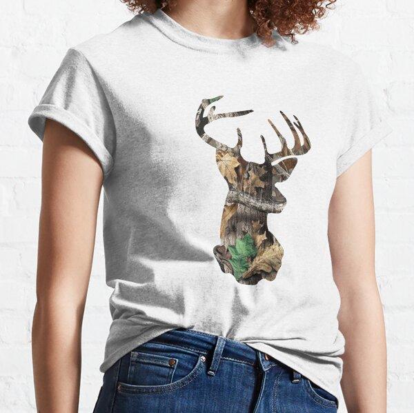 Camo Deer Head Classic T-Shirt