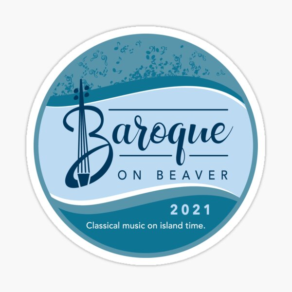 Baroque on Beaver 2021 - Circle Design Sticker