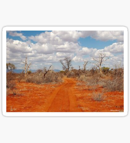 BARREN BUSH VELD WINTER IN AFRICA Sticker