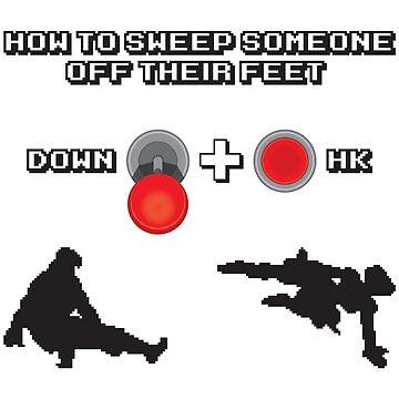 Down + Hard Kick by DarksideEric