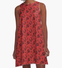 Battlscar - Red/Black A-Line Dress