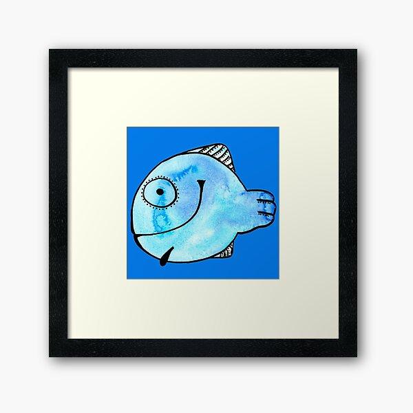 Fisch nach einem Aquarell Gerahmter Kunstdruck