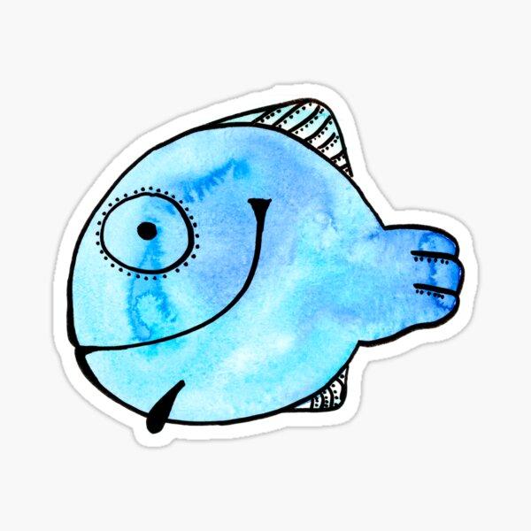 Fisch nach einem Aquarell Sticker