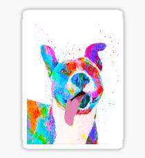 Pit Bull Terrier Pop Art Pet Portrait Sticker