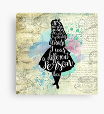 Alice - I Was A Different Person Then Canvas Print