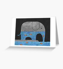 Thirsty Elephant  Greeting Card