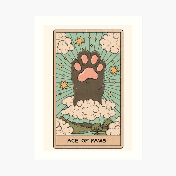Ace of Paws Art Print