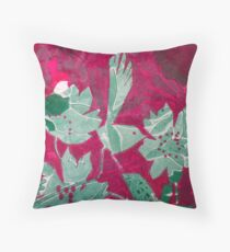 Hot Pink Paradise Throw Pillow