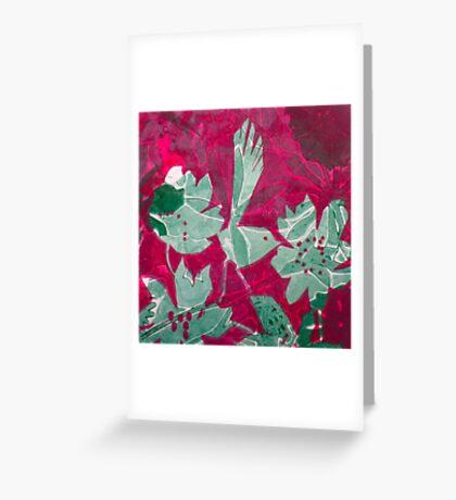 Hot Pink Paradise Greeting Card