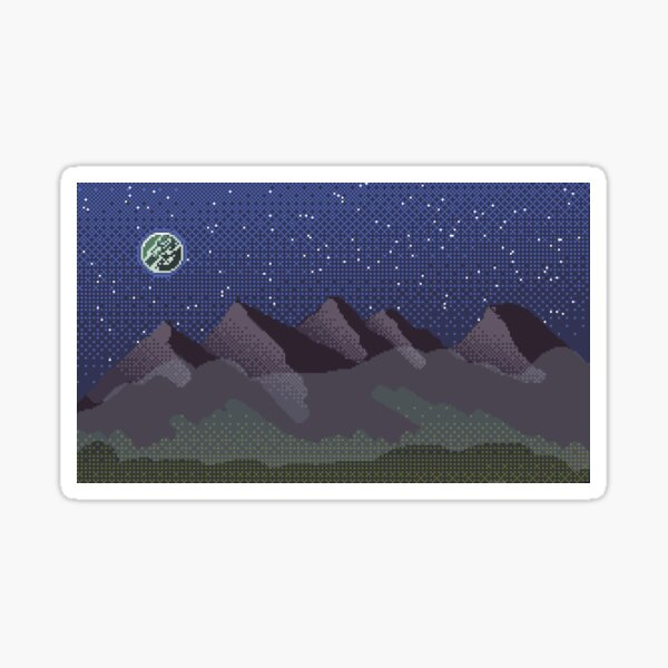 Dither Mountains Sticker