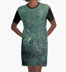 A swirl of vintage green Graphic T-Shirt Dress