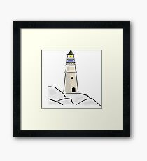Vintage Light house Design Framed Print