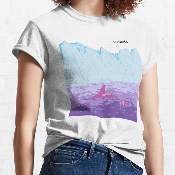 Orcas and Glaciers (bi pride- outside) Classic T-Shirt