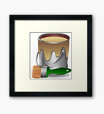 Paint bucket and Brush Framed Print