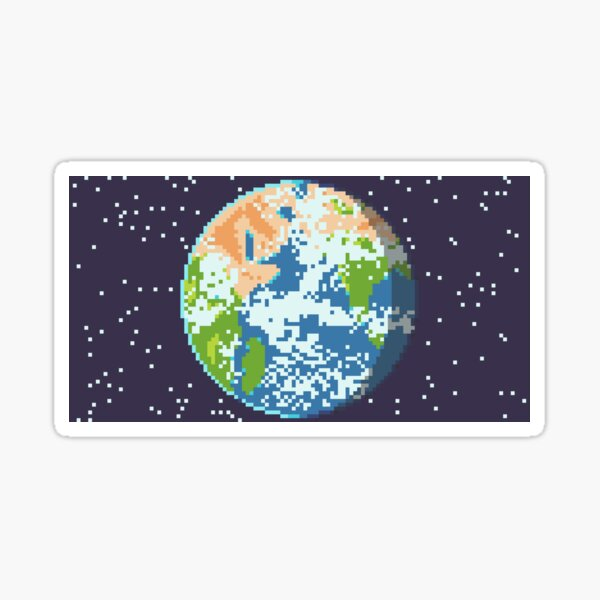 Pixel Planet Sticker