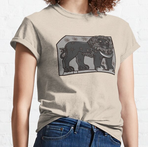 Lion Horoscope Relief, Nemrud Dagi (Archaeological Site in Turkey) Classic T-Shirt