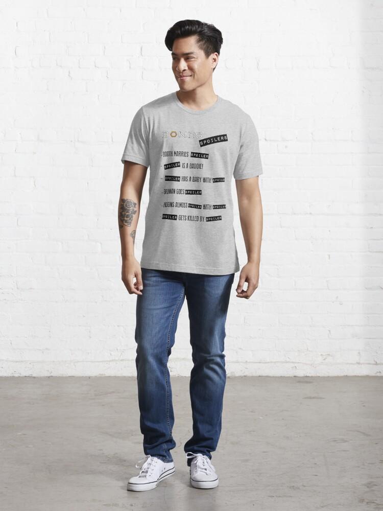 Alternate view of Bones Spoilers Essential T-Shirt