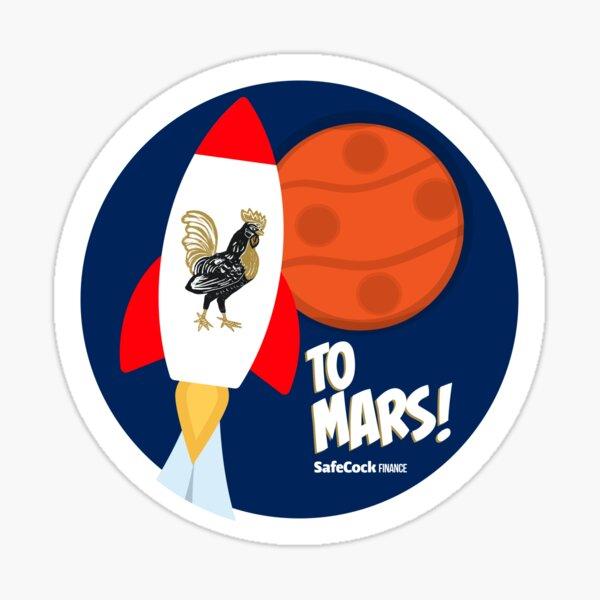 To Mars! Sticker