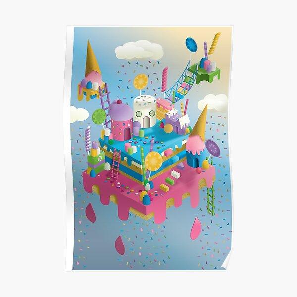 Original Illustration of a Candy Land Poster