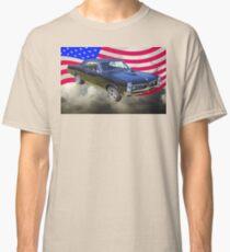 Black 1967 Pontiac GTO with American Flag Classic T-Shirt