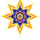 Sacred Geometry Healing Heart Star Mandala by Leah McNeir