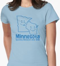 Minnesota Spooning Wisconsin Women's Fitted T-Shirt