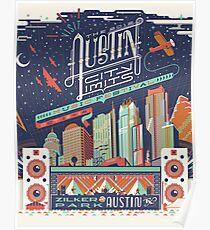 Póster Límites de la ciudad de Austin
